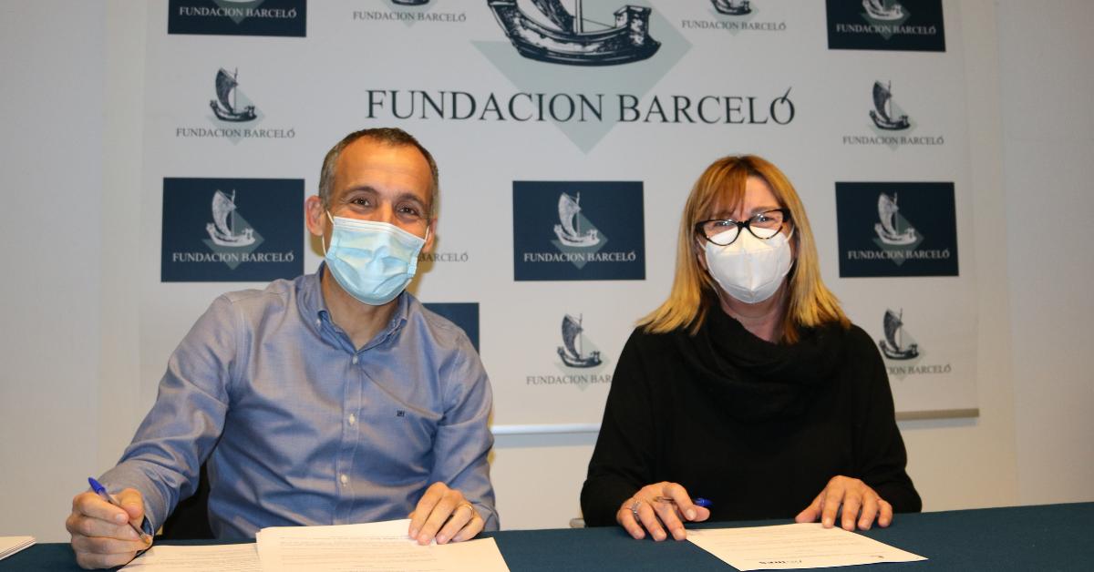 Antonio Monjo, director gerente de Fundación Barceló y Aina Capellá, directora de Fundación IRES
