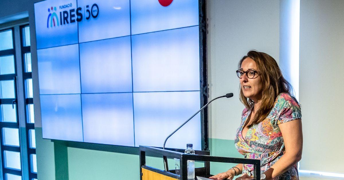 Natalia Valenzuela en el acto del 50 aniversario de la Fundación