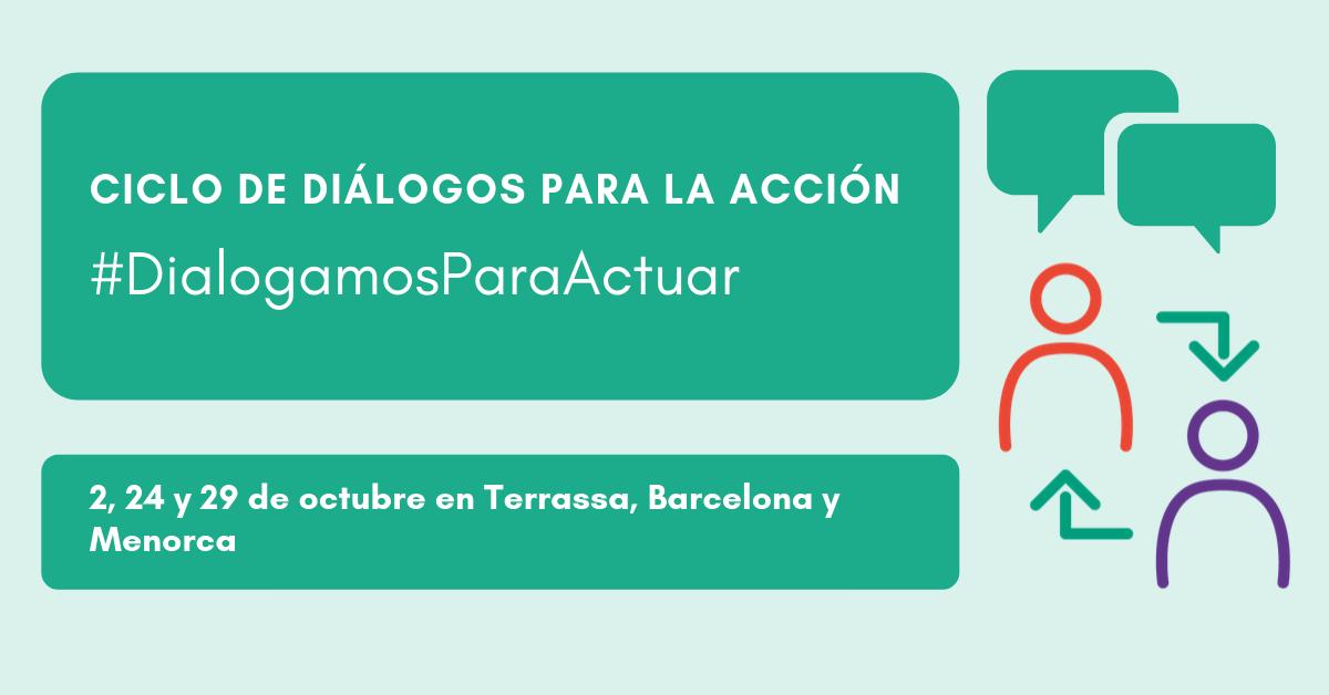 Cartel de ciclo de Diálogos para la acción